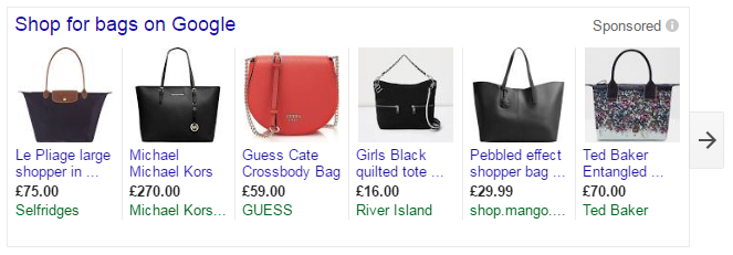 google shopping adwords ads